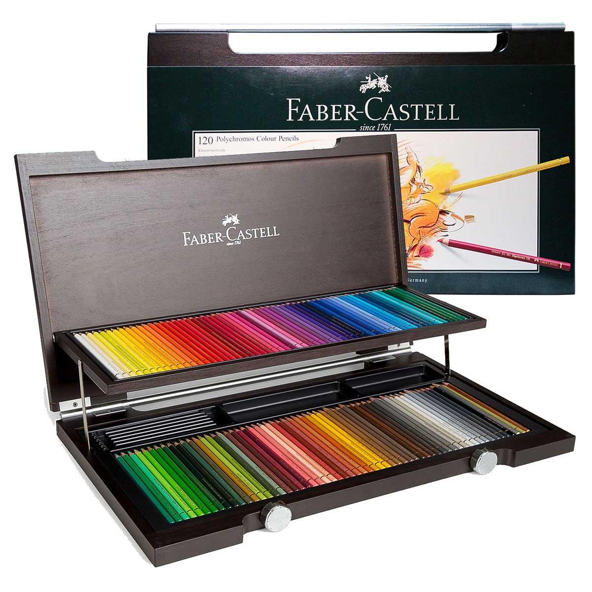 پلی کروم 120 رنگ جعبه چوبی فابرکاستل
