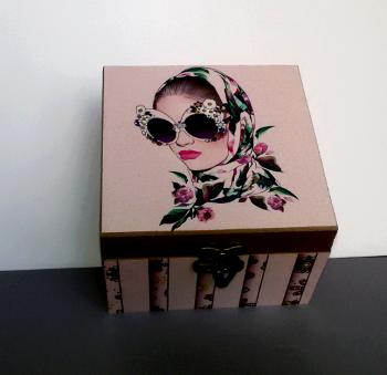 جعبه چوبی دور چاپ 12*12 گندمستان