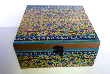 جعبه چوبی دور چاپ 22*22 گندمستان