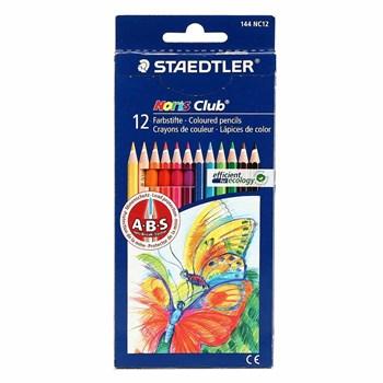 مداد رنگی 12 رنگ استدلر مدل Noris Club جعبه مقوایی