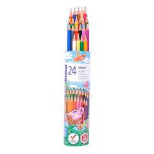 مداد رنگی 24 رنگ لوله ای فلزی استدلر مدل Noris کد 144