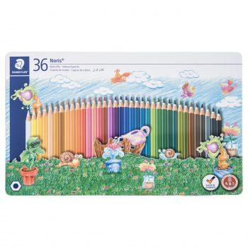 مداد رنگی 36 رنگ جلد فلزی استدلر مدل Noris کد145SPM36