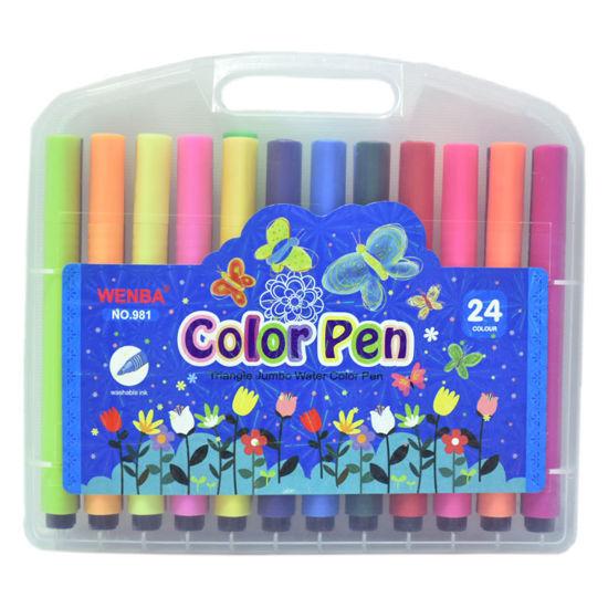 ماژیک 24 رنگ جعبه طلقی ونبا مدل WENBA color pen کد 981