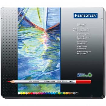 مداد رنگی 24 رنگ جلد فلزی مدل Karat استدلر کد 125