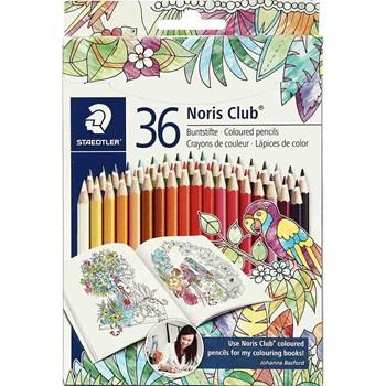 مداد رنگی 36 رنگ مقوایی استدلر مدل Noris club کد 144D36JB