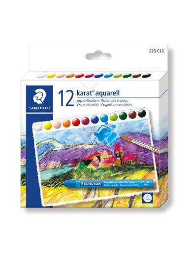 پاستل آبرنگی 12 رنگی جلدمقوایی استدلر مدل Karat aquarell کد 223