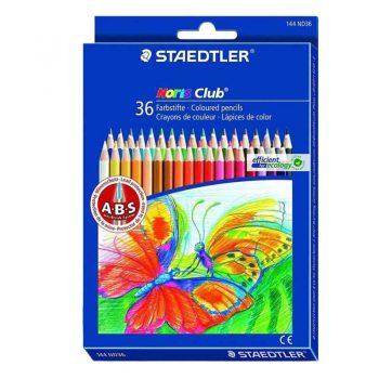 مداد رنگی 36 رنگ مقوایی استدلر مدل Noris club کد 144ND36