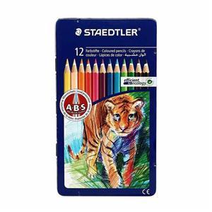 مداد رنگی 12 رنگ جلد فلزی استدلر کد 145AM12