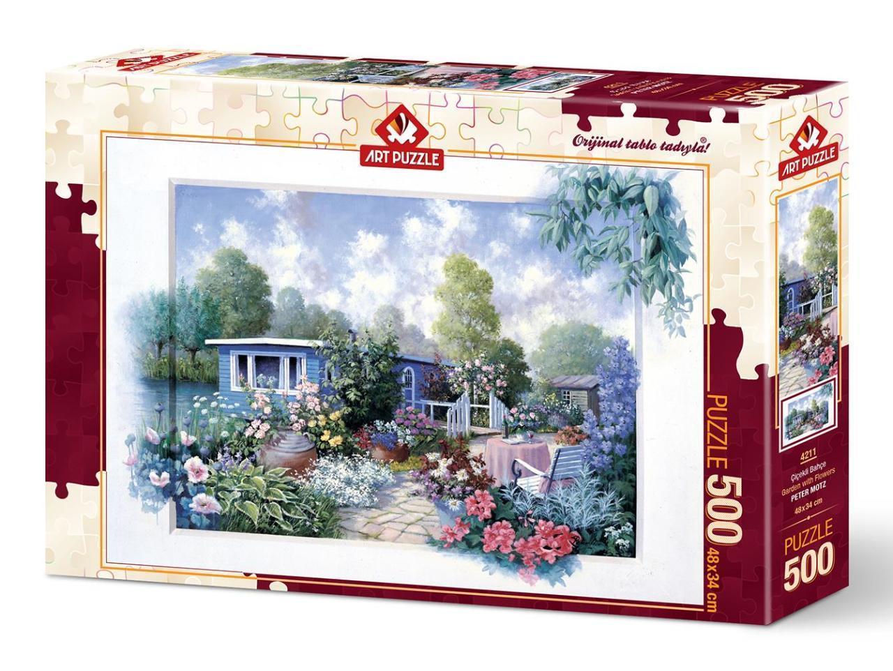 پازل 500 تکه آرت پازل طرح Garden With Flowers کد 4211