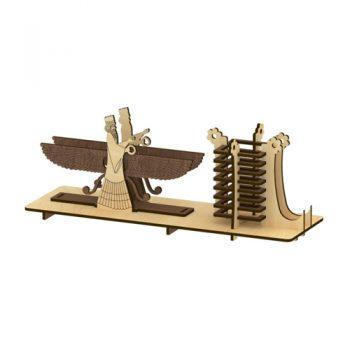 پازل چوبی سه بعدی جامدادی فروهر برند پارس