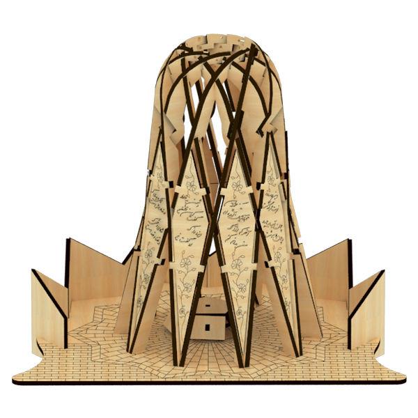 پازل چوبی سه بعدی مقبره خیام نیشابوری برند پارس