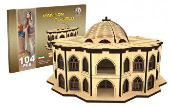 پازل چوبی سه بعدی عمارت ائل گلی برند پارس