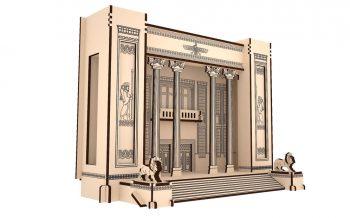 پازل چوبی سه بعدی بانک ملی-سایز کوچک برند پارس کد WE580