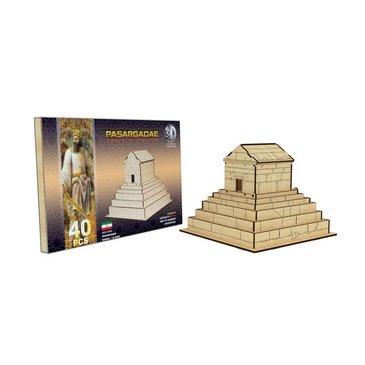 پازل چوبی سه بعدی مقبره کوروش کبیر برند پارس کد 7WE075
