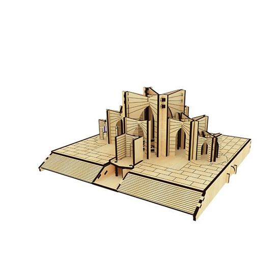 پازل چوبی سه بعدی مقبره الشعراء برند پارس کد 52WM200