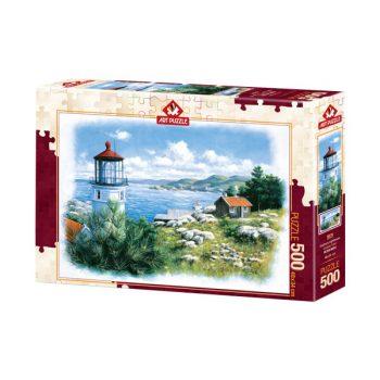 پازل 500 تکه آرت پازل طرح Seafront Lighthouse کد 5076