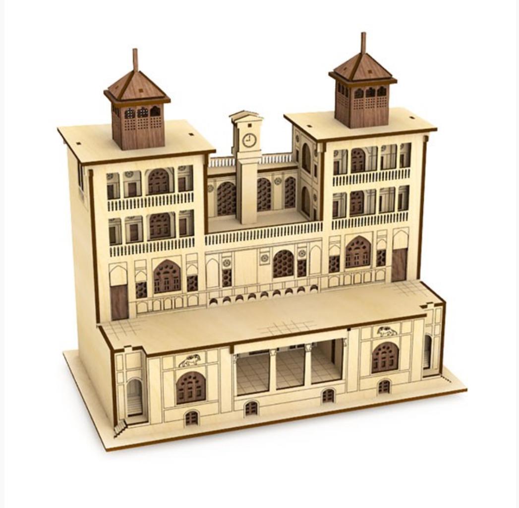 پازل سه بعدی چوبی عمارت شمس العماره برند پارس