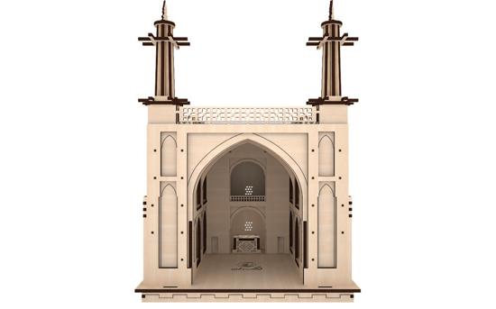 پازل سه بعدی چوبی منارجنبان برند پارس