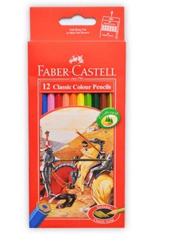 مداد رنگی کلاسیک 12 رنگ جلد مقوایی فابر کاستل