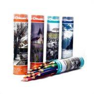 مداد رنگی 24 رنگ بنیتو لوله ای فلزی