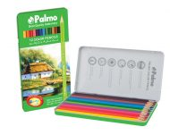 مداد رنگی 12 زنگ جلد فلزی پالمو