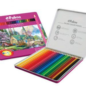مداد رنگی 24 رنگ جلد فلزی پالمو