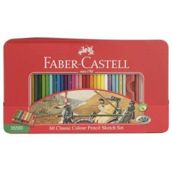 مداد رنگی 60 رنگ فابر کاستل
