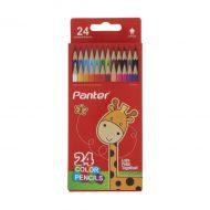 مداد رنگی 24 رنگ جلد مقوایی پنتر