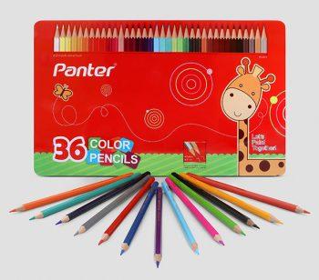 مداد رنگی 36 رنگ جلد فلزی پنتر