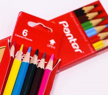 مداد رنگی 6 رنگ جلد مقوایی پنتر