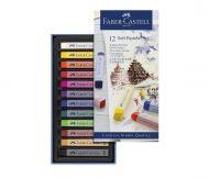 پاستل گچی 12 رنگ مدل Soft Pastels جلد مقوایی فابرکاستل کد 28312