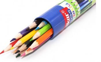 مداد رنگی 12 رنگ جلد فلزی لوله ای پارسی کار