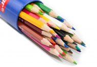 مداد رنگی 24 رنگ جلد فلزی لوله ای پارسی کار