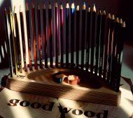 استند مداد رنگی 24 رنگ Good Wood