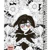دفتر فانتزی 100 برگ جلد سخت سیمی الیپون