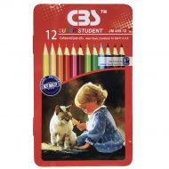 مداد رنگی 12 رنگ جلد فلزی CBS