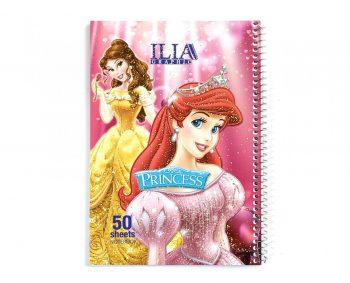 دفتر نقاشی 80 برگ سیمی فانتزی طلاکوب ILIA کد 58