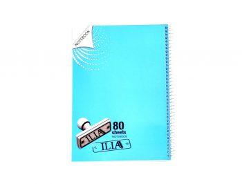 دفتر مشق 80 برگ سیمی الوان ILIA کد 95