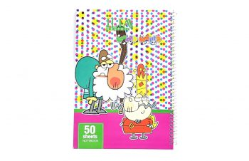 دفتر مشق 50 برگ سیمی کارتونی ILIA کد 66