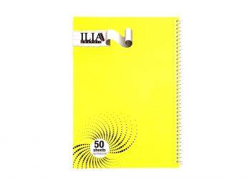 دفتر مشق 50 برگ سیمی الوان ILIA کد 70