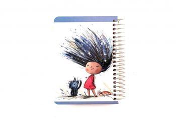 دفتر یادداشت سیمی سلفونی 100 برگ دوکا