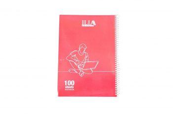 دفتر مشق 100 برگ سیمی کلاسیک پرسی الوان ILIA کد 103