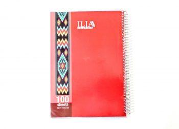 دفتر مشق 100 برگ سیمی پرسی کلاسیک ILIA کد 105
